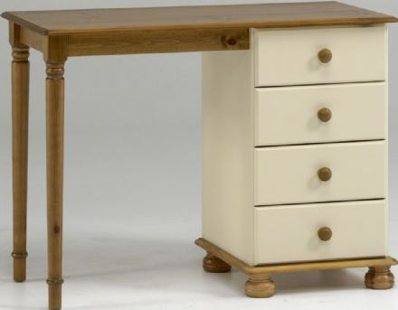 Richmond Cream And Pine Single Dressing Table